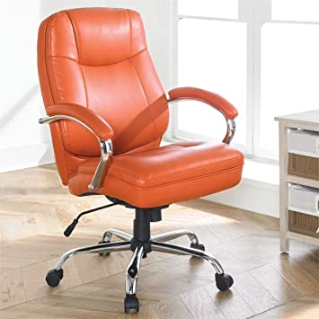office orange. brylanehome extra wide womanu0027s office chair orange i