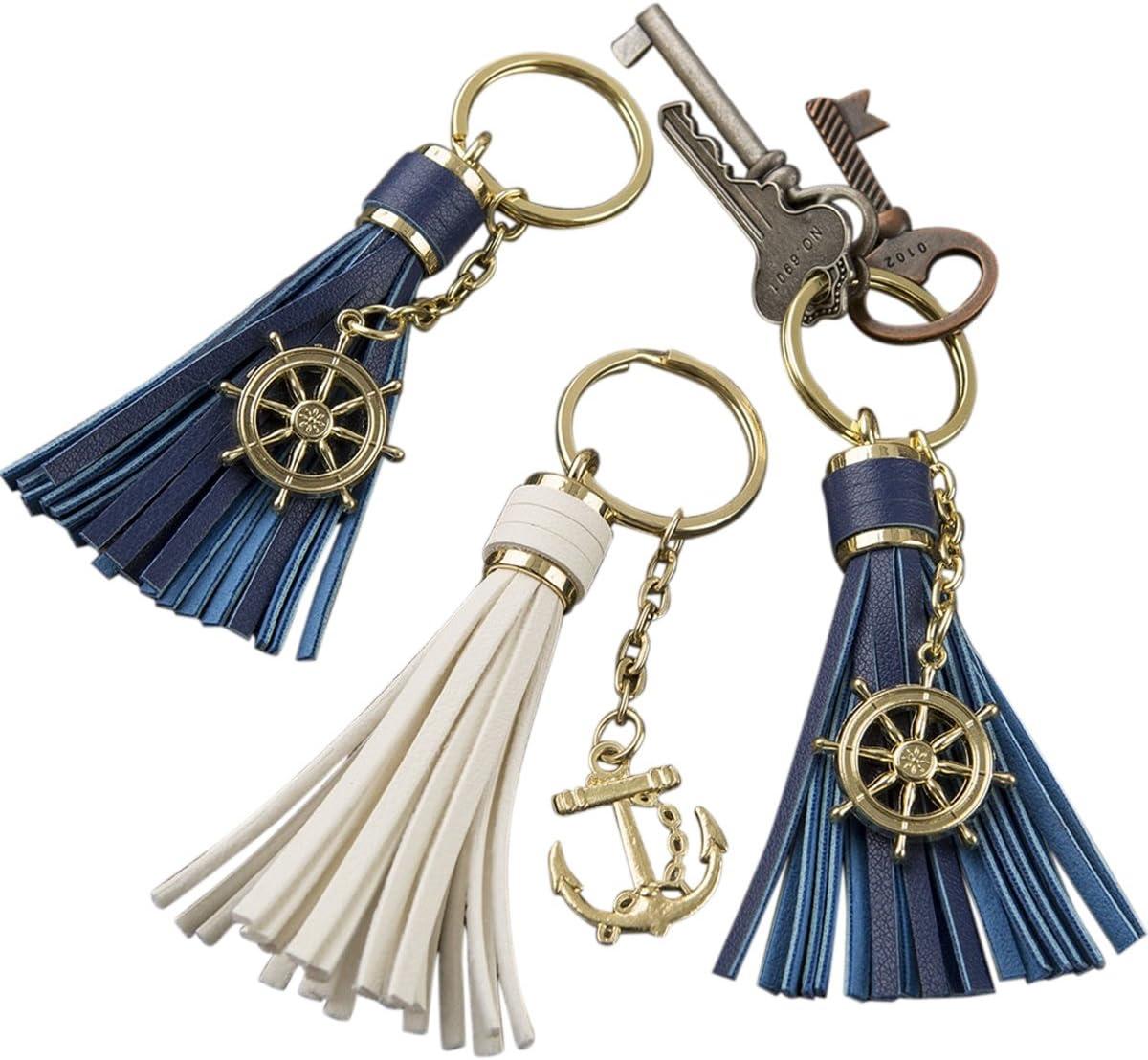 Nautical Sea Theme Anchor Keyring Key Ring Keychain Key Chain Vintage Style