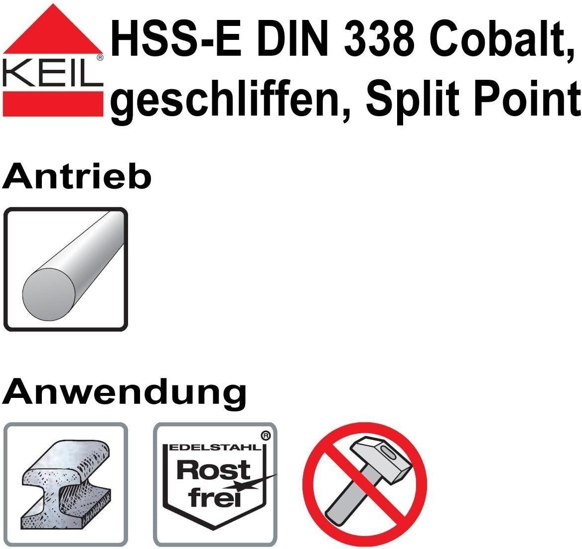 sourcing map 6 St/ück Hartmetall Spiralbohrer Metallbohrer 10.5 mm f/ür Edelstahl Kupfer Aluminium Zinklegierung Eisen