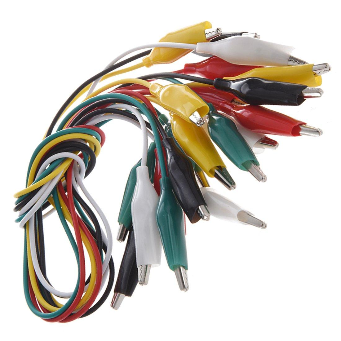 LINSUNG Type de connecteur de cable de test de multim/ètre Fiche banane pince crocodile