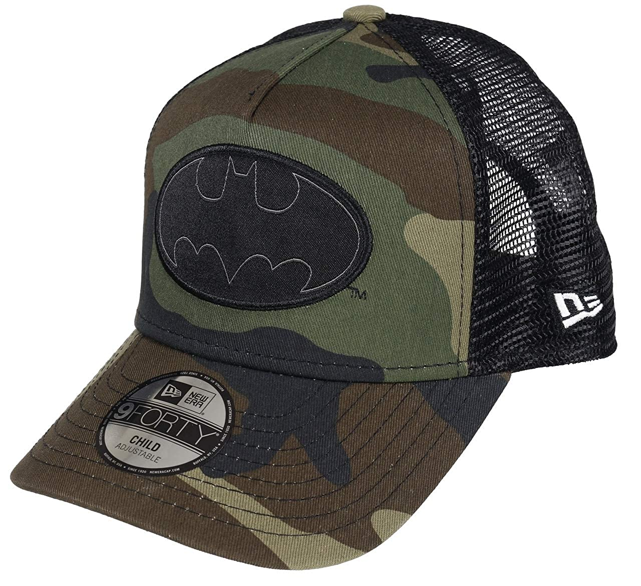 New Era Character 9Forty Trucker Kinder Cap SUPERMAN Grau Camouflage