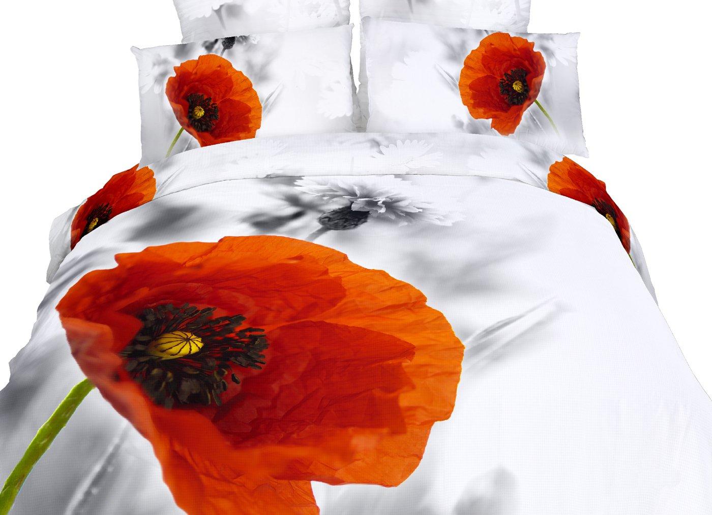 Dolce Mela DM493T Duvet Cover Set, Twin, Poppies