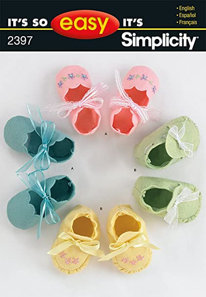 Amazon Simplicity Sewing Pattern 2397 Its So Easy Baby Booties