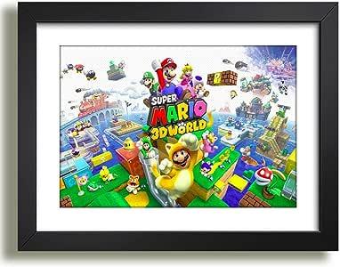 Quadro Decorativo Super Mario Bros World Poster Game Jogos