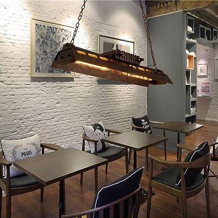 4-luces Vintage Araña Industrial Metal Antioxidante Color Semi a ras de la lámpara de techo de montaje Color óxido Retro Edison E27 Cadena larga de la bombilla Decorativo Decorado Restaurante Lámpara: Amazon.es: