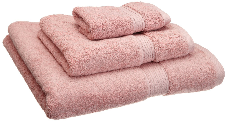 Superior 900 GSM Luxury Bathroom 3-Piece Towel Set, Made of 100% Premium Long-Staple Combed Cotton, Hotel & Spa Quality Washcloth, Hand Towel, and Bath Towel - Tea Rose