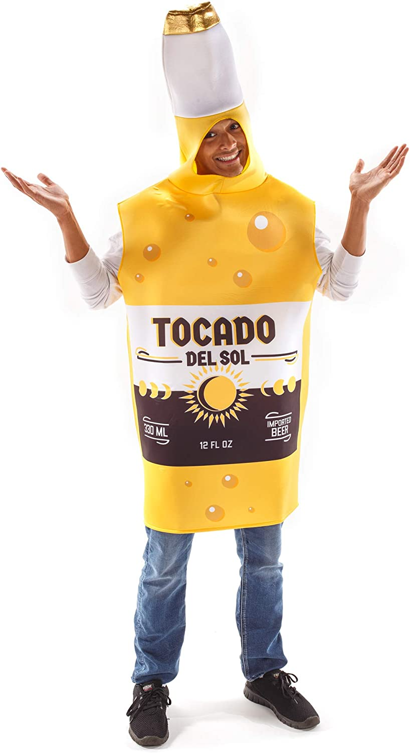Ice Cold Beer Bottle Halloween Costume - Adult Funny Food Drinking Outfit