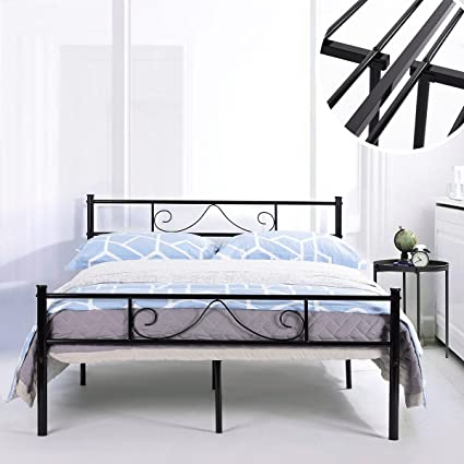 Amazon.com: GreenForest Bed Frame Full Size with Headboard and ...