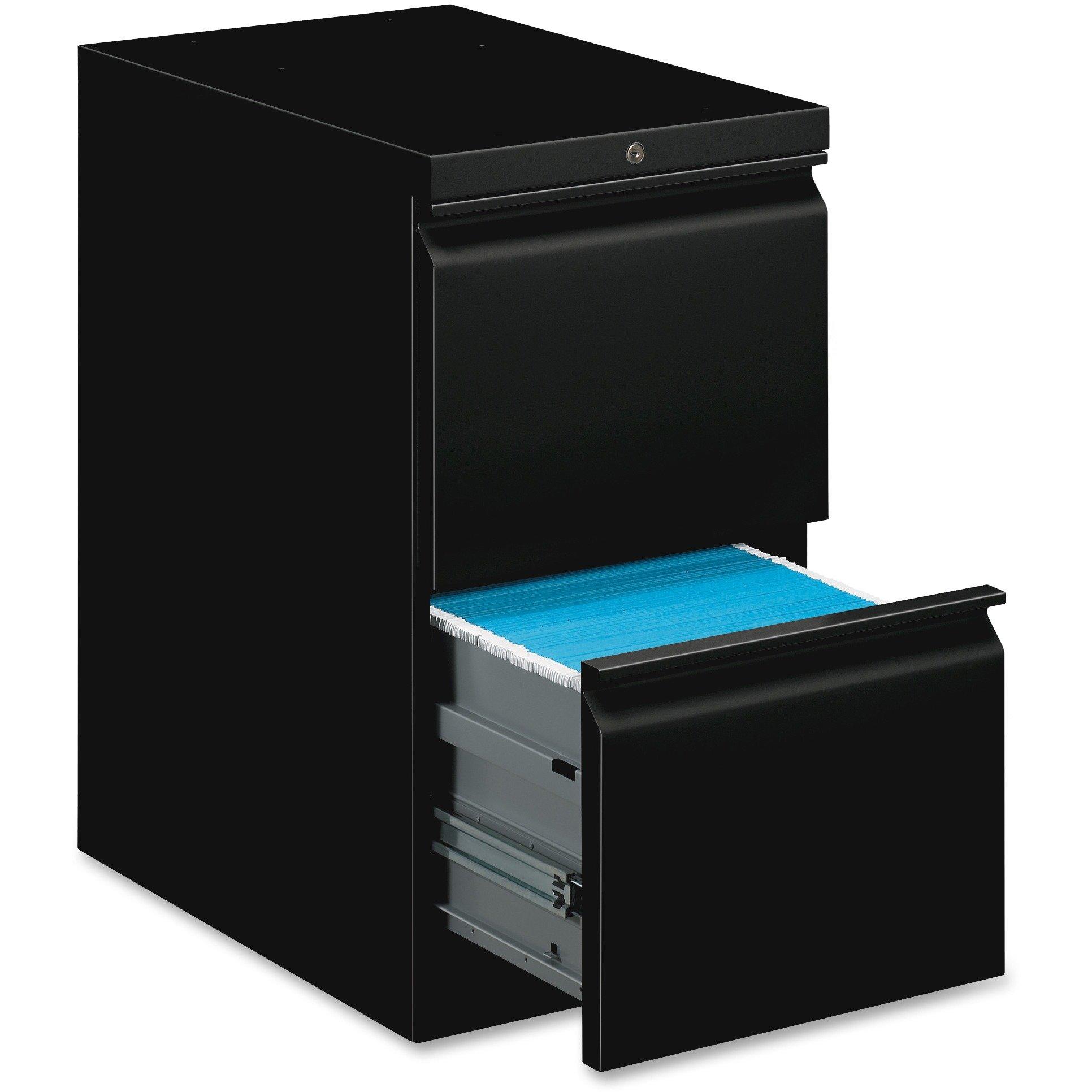 basyx HBMP2FP Mobile Pedestal File, File/File, 15 x 20 x 28, Black by HON