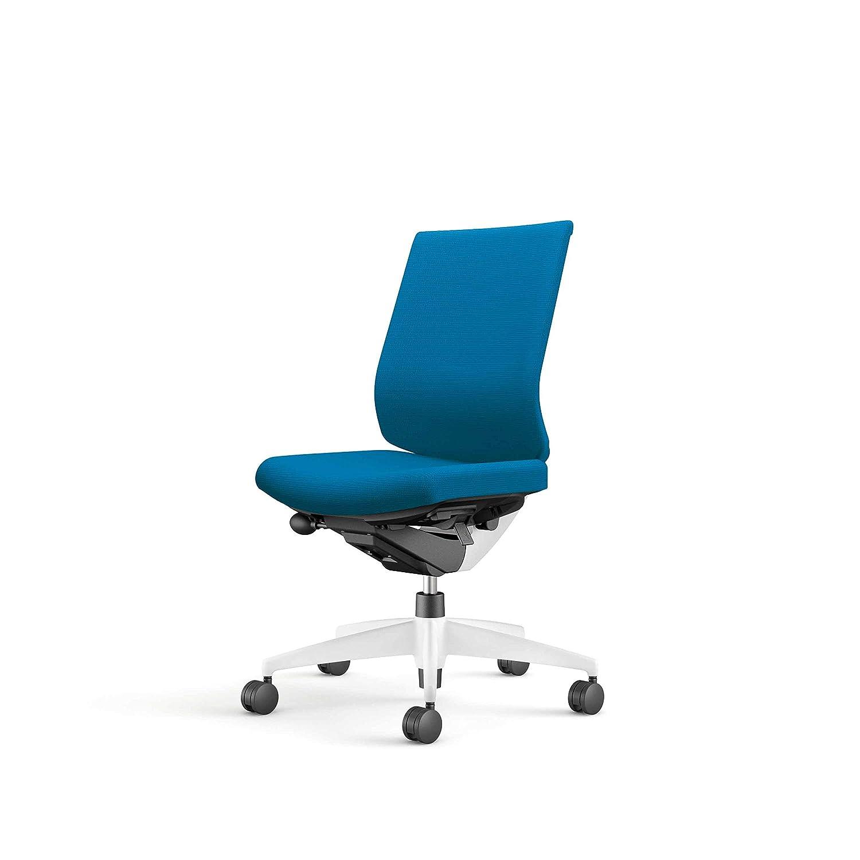 コクヨ オフィスチェア ウィザード3 CR-W3620E1G4T4-W ローバック 肘なし 樹脂脚 ホワイトシェル 布/ターコイズ 脚/ホワイト カーペット用キャスター  布/ターコイズ B07PV1RN95