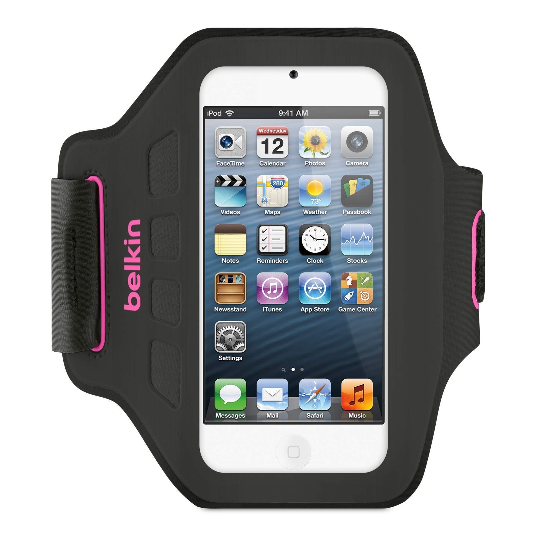 Belkin Ease-Fit Armband for Apple iPod Touch 5th Gen (Black/Pink)