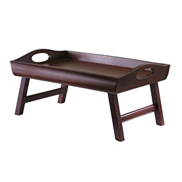 Bandeja 94725 Sedona Bed Winsome lado curvo patas plegables grande Handle-Nogal Antiguo