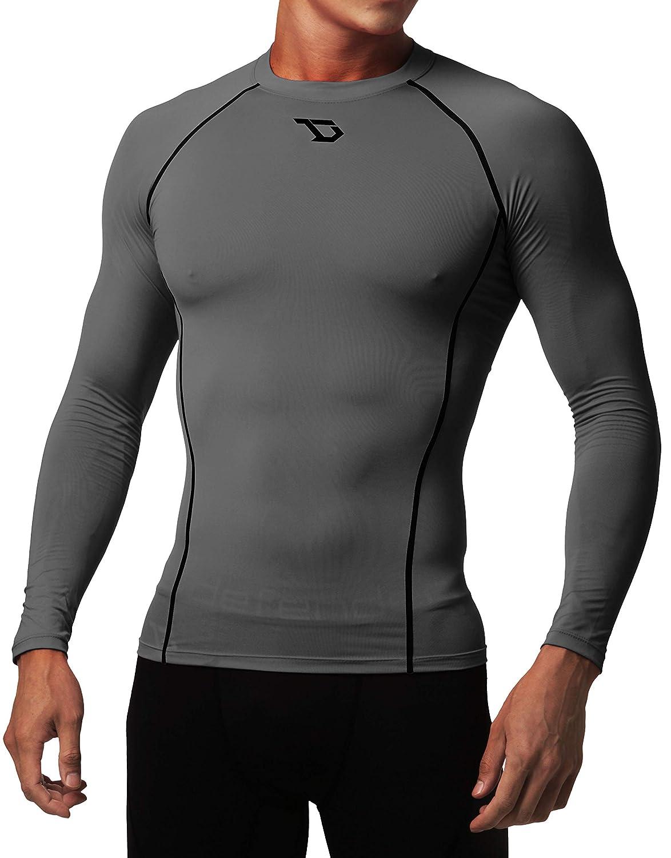 Defender Mens Quick Dry Compression Baselayer Underlayer Top Long Sleeve T-Shirt