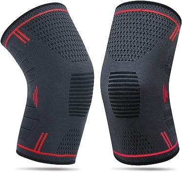 Leezo 1PC ginocchiera Pad anti urto traspirante compressione gamba maniche per basket calcio fitness all aperto arrampicata