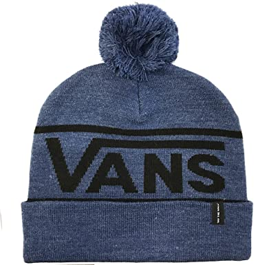 95b53a9017b VANS- Drop V Beanie -Delft Heather - Blue -One Size Fits All  Amazon.co.uk   Clothing