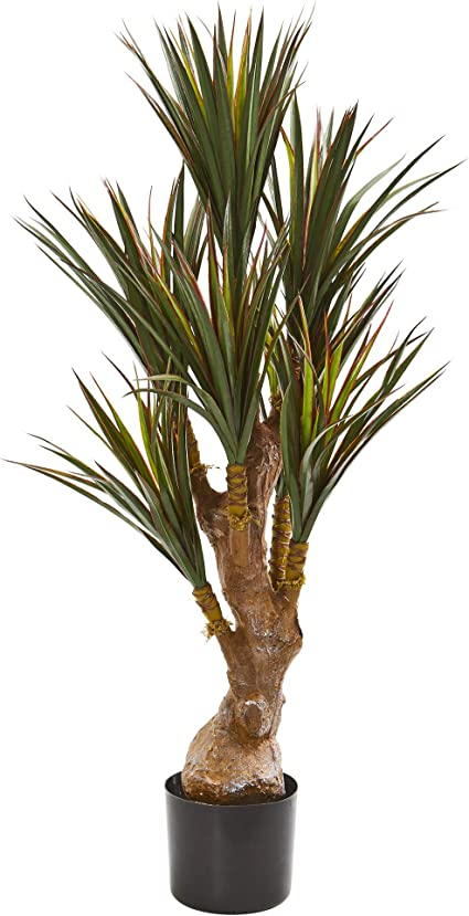 Nearly Natural 46 Yucca Artificial Uv Resistant Indoor Outdoor Silk Trees Green Furniture Decor Amazon Com