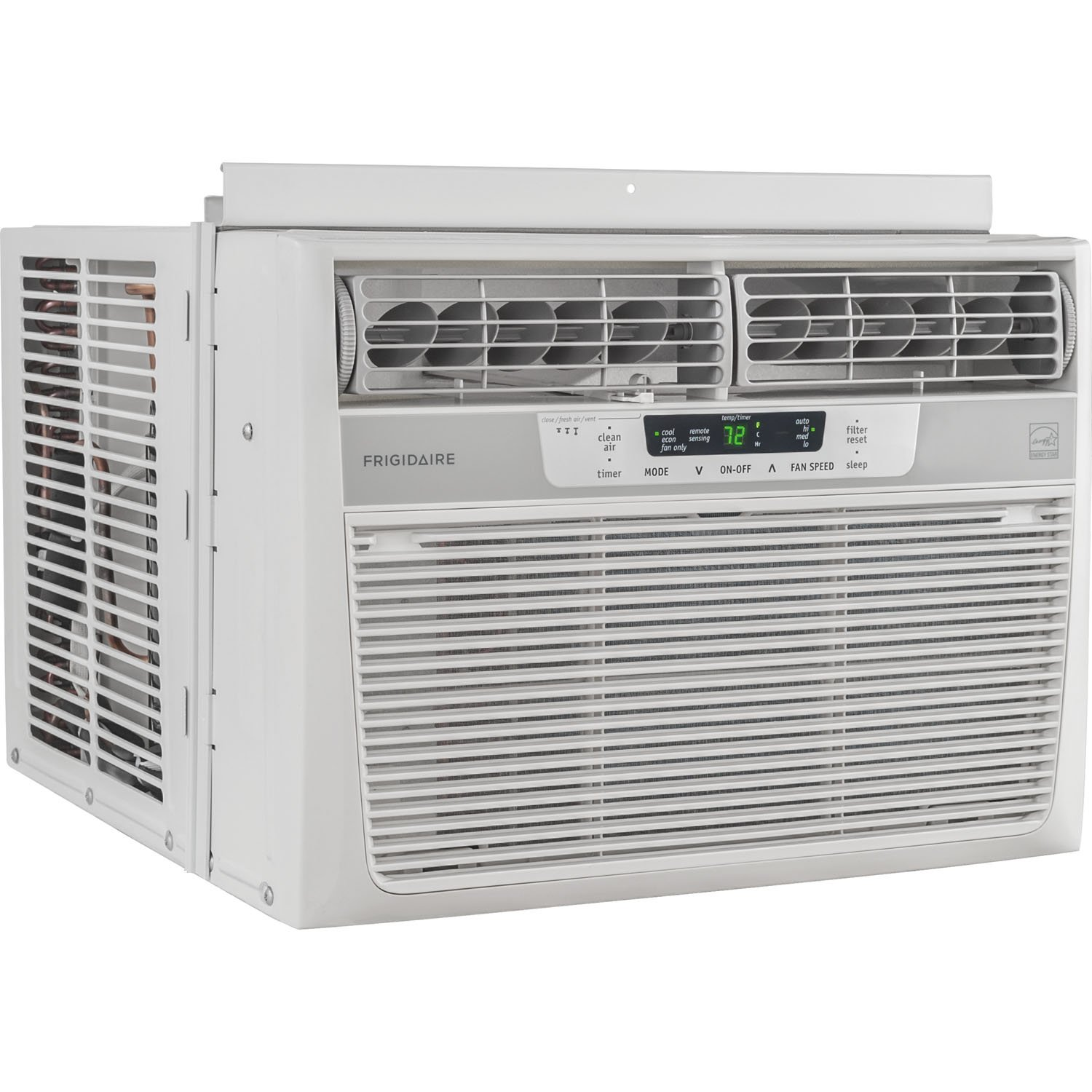 Amazon.com: Frigidaire 10,000 BTU 115V Window-Mounted Compact Air  Conditioner with Temperature Sensing Remote Control: Home & Kitchen