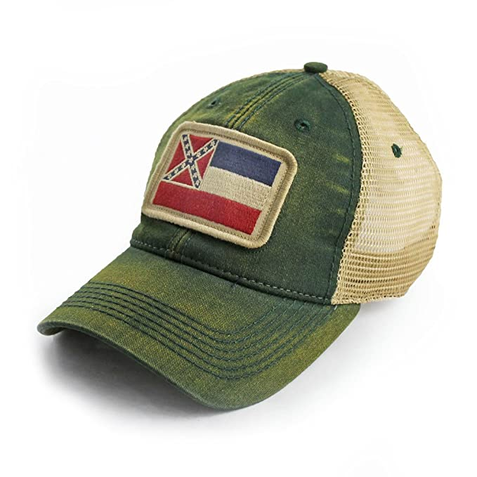 fb1d9c43000 Image Unavailable. Image not available for. Color  State Legacy Revival  Mississippi Flag Patch Trucker Hat ...