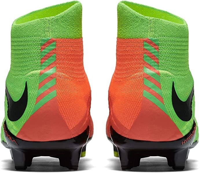 283a3234cfb Men s Hypervenom Phatal III Dynamic Fit FG Electric Green Black Hyper  Orange Soccer Shoes