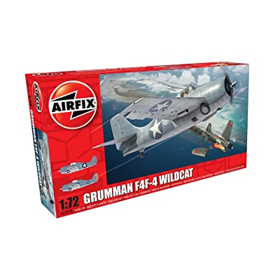 Airfix 1:72nd Scale WWII Grumman F4F-4 Wildcat Plastic Model Kit: Toys & Games