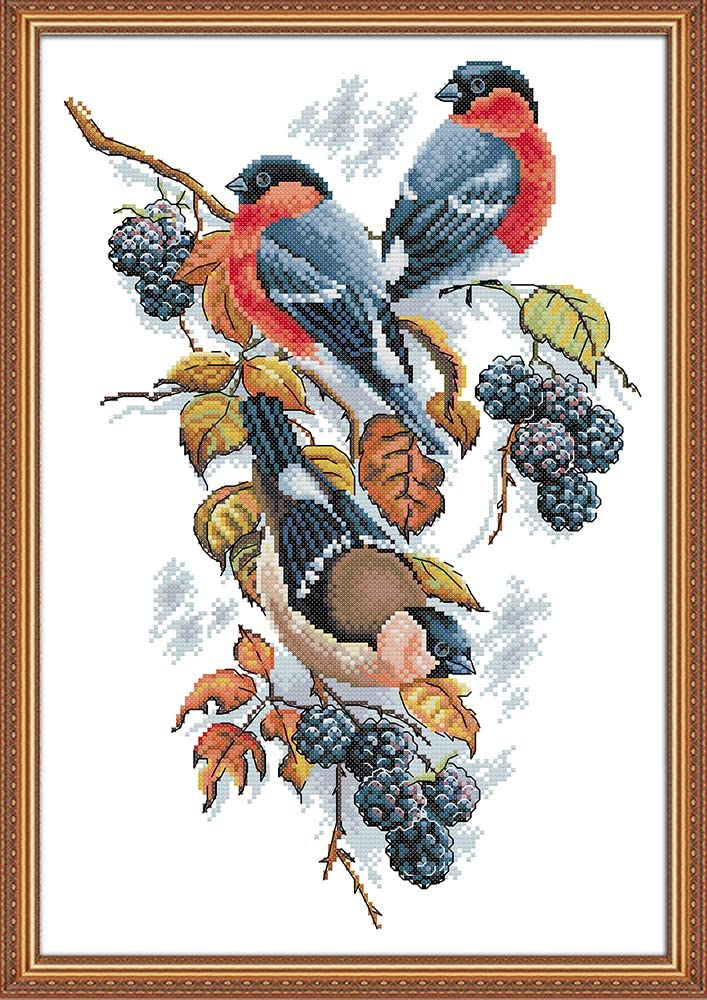 /rosso Bellies Magpies and more STAMPED Captaincrafts Hot New Releases DIY Art modelli di ricamo kit punto croce contato kit di ricamo/