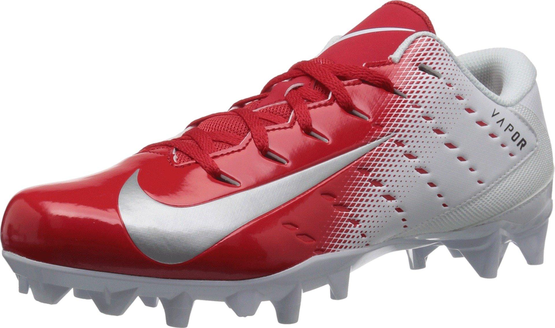 Nike Men's Vapor Untouchable Varsity 3 TD Football Cleat White/Metallic Silver/University Red Size 9 M US by Nike