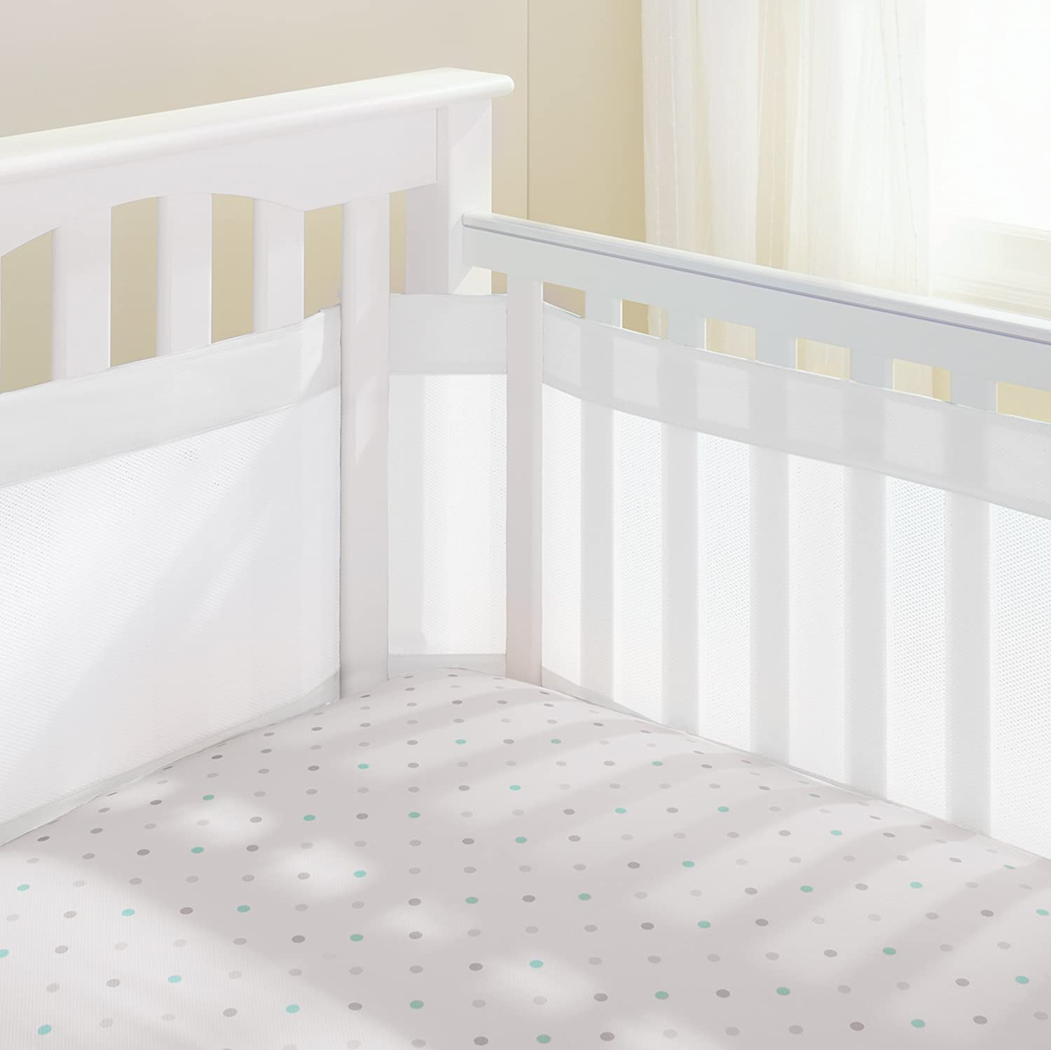 free dove lab grey crib baby pinstripe shipping product today overstock trend gray bumpers and white