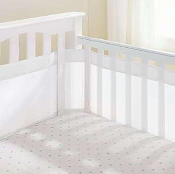 AirFlowBaby 14quot Mesh Crib Liner White Mist