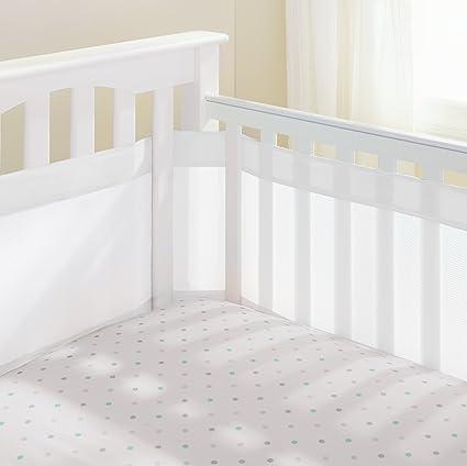 Easy Breathe Baby Air Mesh Crib Liner Wrap Nursery Cot Bed Breathable Bumper Set