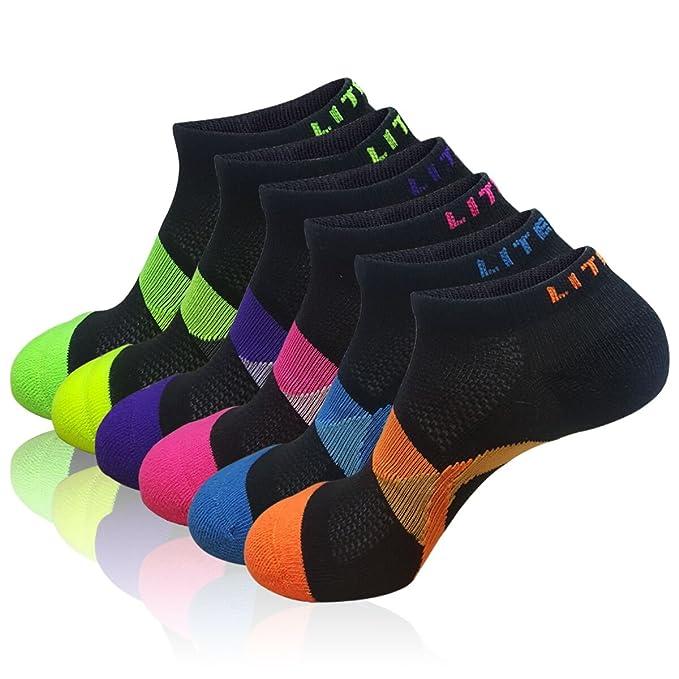 f920583666c61 LITERRA Womens 6 Pack Athletic No Show Socks Performance Low Cut Sports Sock