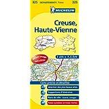 Carte DPARTEMENTS Creuse, Haute Vienne