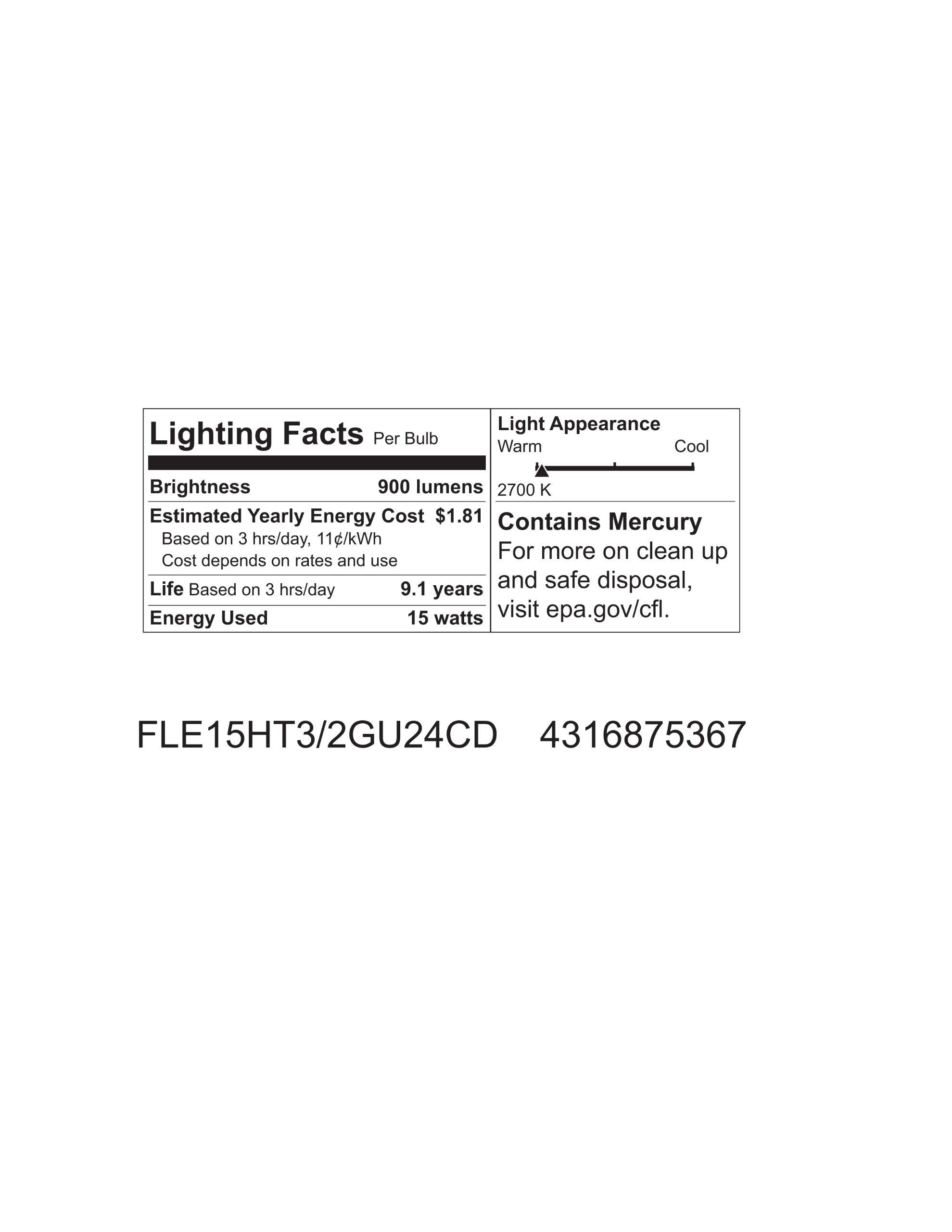 GE Lighting 75367 Energy Smart Spiral CFL 15-Watt (60-watt replacement) 900-Lumen T3 Spiral Light Bulb with Medium Base, 1-Pack