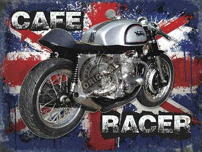 Cafe Racer Motorbike Cartel de Chapa Placa