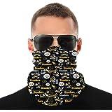 Face Shield Bandanas Cuello Polainas Bufanda Cara Impresión 3D Fútbol Americano Escudo Solar para Motociclismo (Talla…