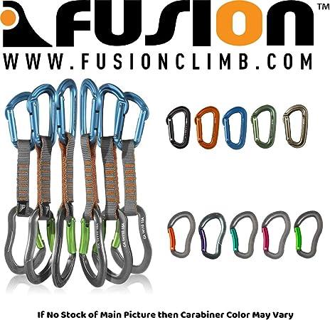 Fusion Climb 6-Pack 11cm Juego Quickdraw con mosquetón de ...