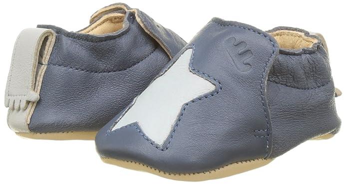 Easy Peasy Unisex Baby Krabbelschuhe Krabbel- & Hausschuhe BLUMOO Etoile, Mehrfarbig (Denim/Inwi), 6-12 Monate