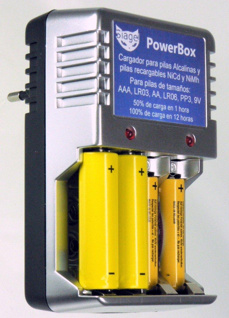 PowerBox cargador de pilas Alcalinas no recargables: Amazon ...
