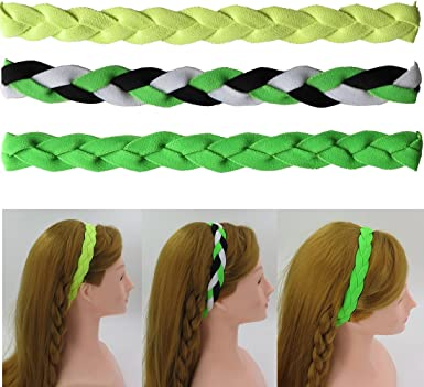 NEW Green Black White Grippy Band Headband Hair Sport Soccer Softball Stretchy