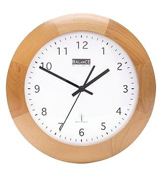Funk Holz Wanduhr - Quarz - 32cm Designer Uhr rund: Amazon.de ...