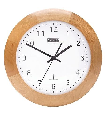 Funk Holz Wanduhr - Quarz - 32Cm Designer Uhr Rund: Amazon.De