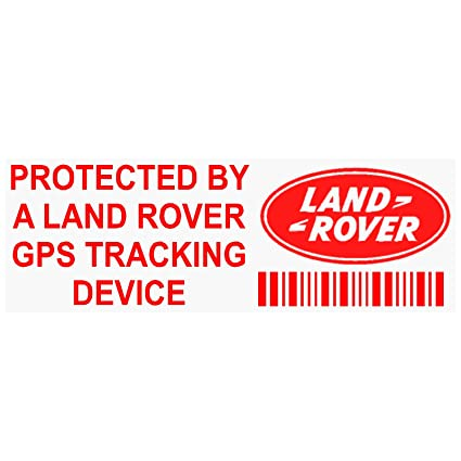 5 x pplandrovergpsred GPS redtracking dispositivo seguridad ventana pegatinas 87 x 30 mm-car,