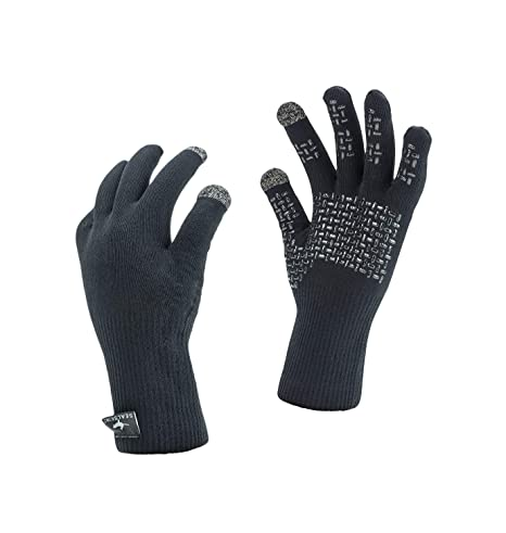 SealSkinz – Impermeable Ultra Agarre Guantes, Unisex, Color Negro, tamaño Small