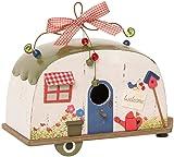 Pureday Hanging Decorative Caravan Birdhouse, Wood/Metal, W26 x D13 x H23 cm