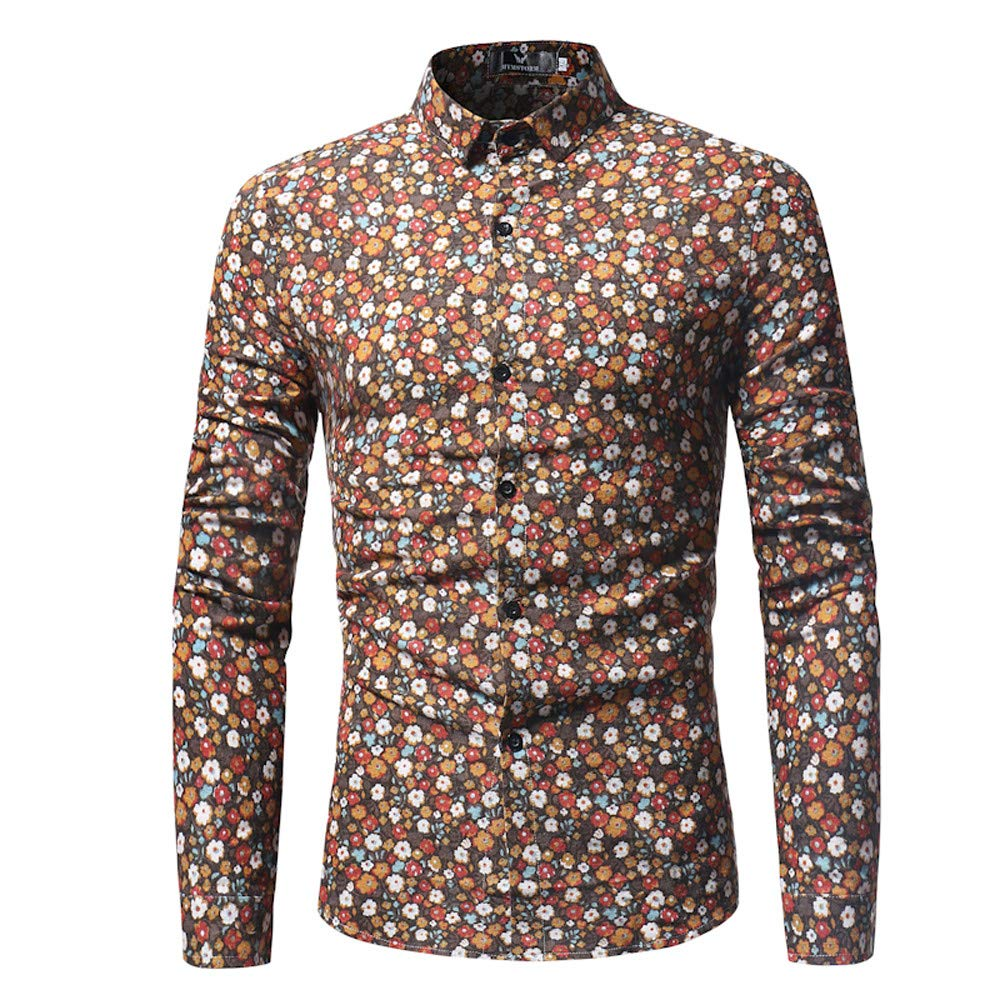 Amazon.com: WEUIE Clearance Mens T Shirts Mens Fashion Printed Blouse Casual Long Sleeve Slim Shirts Tops: Clothing