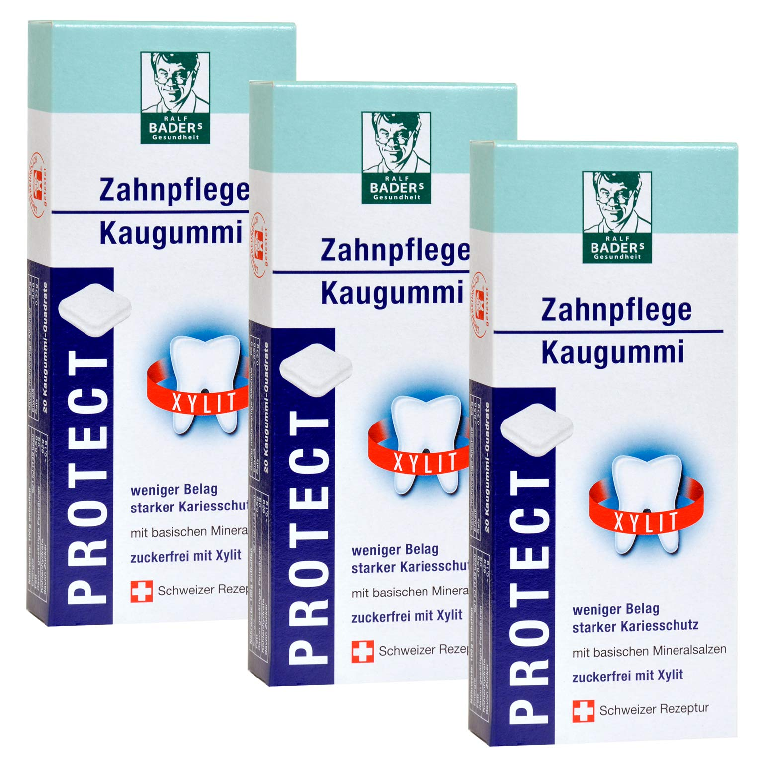 BADERs Protect Zahnpflege from The Pharmacy. 100% Xylitol. Dental Care Chewing Gum for Less Plaque. Protection Against…