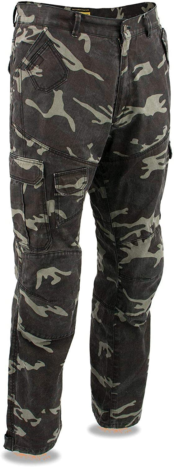 Milwaukee Leather MPM5592 Mens Armored Camo Cargo Jeans Reinforced with Aramid By Dupont Fibers 28