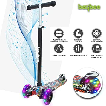 Baybee Mini-Zapper 3 Wheel Folding Kick Kids Scooty Scooter Tricycle for Indoor & Outdoor…