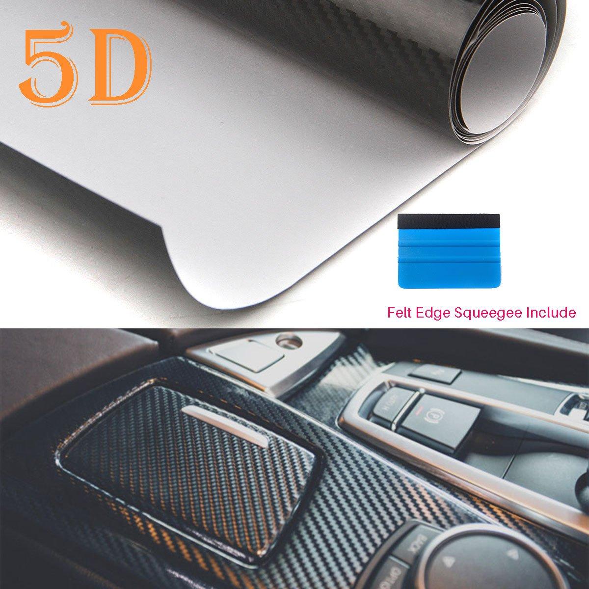 Rouleau de film de covering Peatop en vinyle en fibre de carbone 5D trè s brillant et texturé , sans bulles d'air sans bulles d' air CAIKU