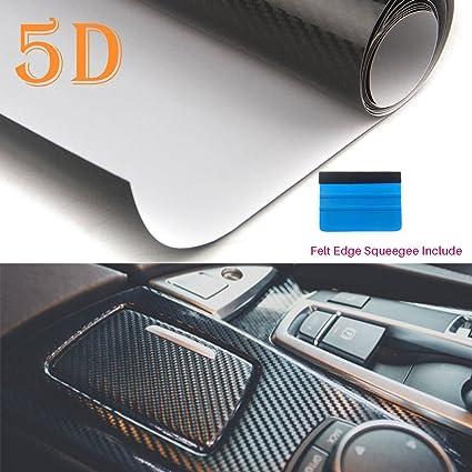 Rollo de vinilo de fibra de carbono 5D de PEATOP, alto ...