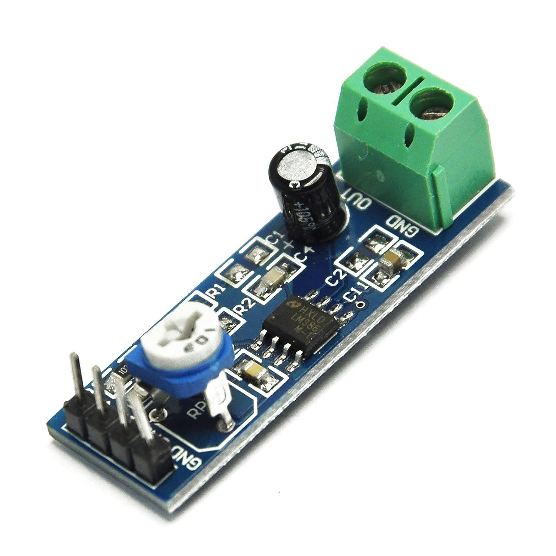 Gikfun 200 Times Gain 5v 12v Lm386 Audio Amplifier 2 Watts Stereo Using Three Module For Arduino Ek1236 Computers Accessories